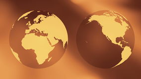 World globe travel concept background. Rotating world globe abstract motion background stock video