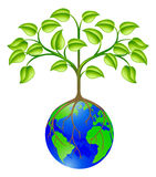 World globe tree royalty free illustration