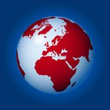 World globe (vector) Stock Image