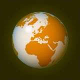 World globe (vector) Stock Photography