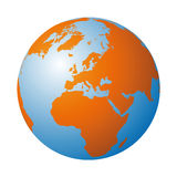 World globe (vector) Royalty Free Stock Photo