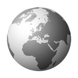 World globe (vector) Stock Images