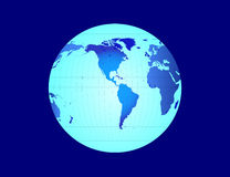 World Globe - vector illustration. World Globe in blue - vector illustration stock illustration