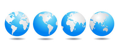 World globe vector. Illustration on white Royalty Free Stock Photos