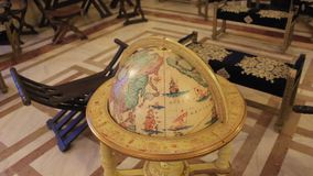 World globe. And vintage furniture stock video