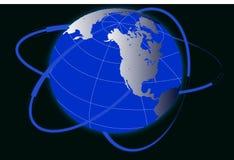 World globe on white background Royalty Free Stock Photography