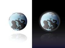 World globe on white and black Stock Image