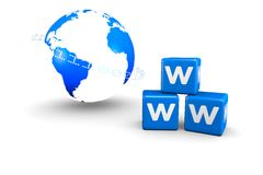 World globe and World Wide Web text Royalty Free Stock Photos