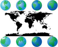 World globes royalty free stock photo