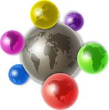 World of globes Royalty Free Stock Photo