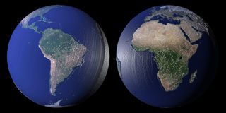 World globes Royalty Free Stock Photography