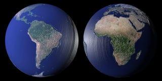 World globes royalty free stock photography