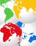 World Globes. Abstract background with colorful world globes royalty free illustration