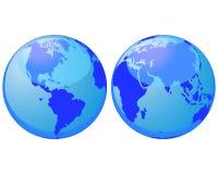 World globes stock image