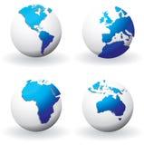 World globes Stock Photo