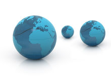 World globes blue Stock Photo