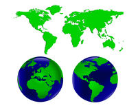 World Globes and Map Royalty Free Stock Photos
