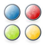 World glossy buttons Stock Images