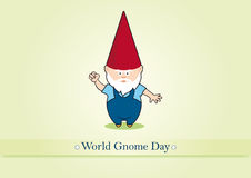 World Gnome Day vector Royalty Free Stock Images