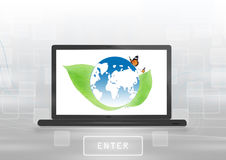 World Goes Green Stock Photography