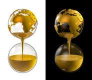 World gold hourglass Stock Image
