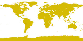 World gold map Stock Photos