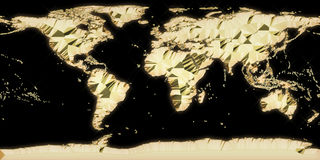 World gold map Royalty Free Stock Image