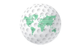 World golf ball Royalty Free Stock Photography