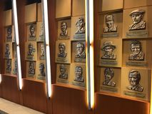 World Golf Hall of Fame. Bronze plaques dedicated to the enshrinees at the World Golf Hall of Fame Royalty Free Stock Photo