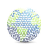 World golf map ball isolated Stock Image