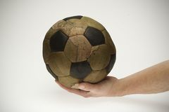 World is governed by football. World map Royalty Free Stock Photography