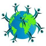 World graduates. Illustration of world graduates design isolated on white background Stock Image