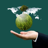 World green business concept Stock Photos