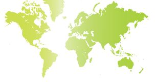The world in green color. Stock Image
