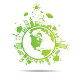 World Green ecology city environmentally illustration Stock Photography