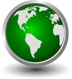 World on a green sphere Royalty Free Stock Image