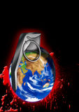 World Grenade. State of earth illustration Stock Photography