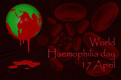 World Haemophilia day 17 April. 3D. World Haemophilia day 17 April Stock Photography