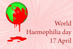 World Haemophilia day 17 April. 3D. World Haemophilia day 17 April Stock Images