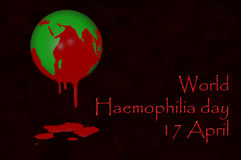World Haemophilia day 17 April. 3D. World Haemophilia day 17 April Royalty Free Stock Photos