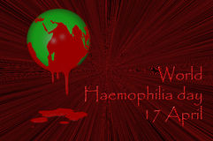 World Haemophilia day 17 April. 3D. World Haemophilia day 17 April Stock Image