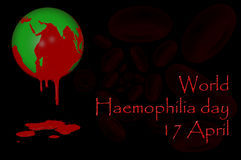 World Haemophilia day 17 April. 3D. World Haemophilia day 17 April Royalty Free Stock Photo