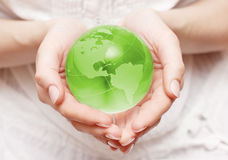 world in hand Royalty Free Stock Image
