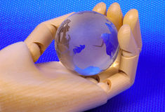 World In Hand Royalty Free Stock Images