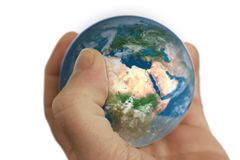 World in hand Stock Photography