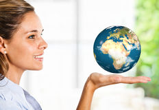 World in the hand Stock Image