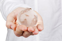 World in a Hand Royalty Free Stock Photography