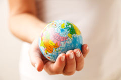 World in hand. Royalty Free Stock Images