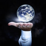 World in Hand. World in your hand concept Stock Photography