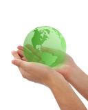 World in hand. Concept photography -- world in hand Stock Images